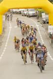 arrivee de course cycliste poster