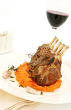 Rack of lamb with rosemary and mustard poster