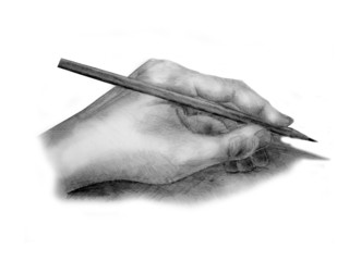 I did this drawing of a hand.