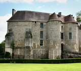An ancient and Historic Chateau in Normandy France, poster