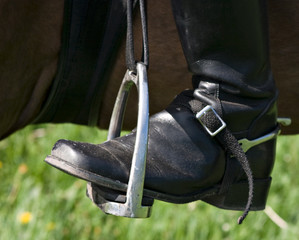 Boot, spur and stirrup