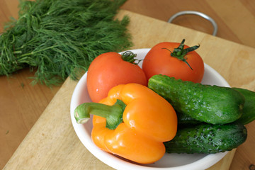 Ingredients mix salad