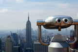 Observation deck in Manhattan poster