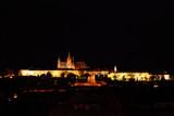 Prague castle in the night - residence of czech president poster