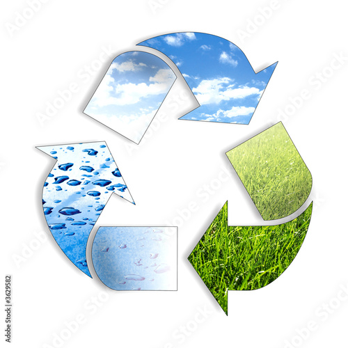 it explain naturel recycle..Three arrows follow eachother.