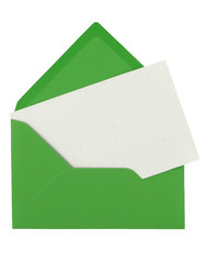 envelope and blank note