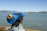Alcatraz with telescope poster