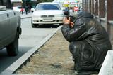 Homeless tramp. poster
