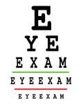 Eye exam chart poster
