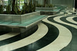 wavey mable flooring in lobby