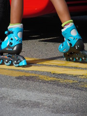 colorful rollerblades