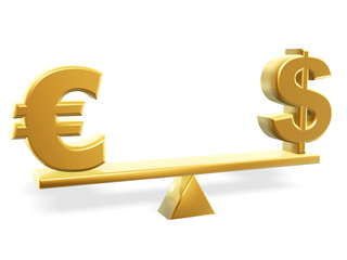 value of dollar and euro