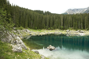 a beautiful lake in the mountains from Italy