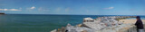 Panoramic view of the ocean from the marine stroll poster
