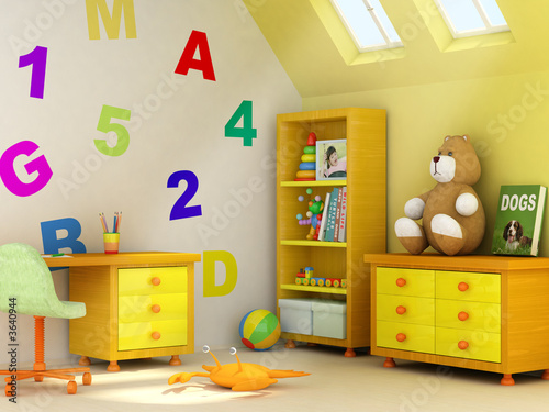 3D rendering of a children room