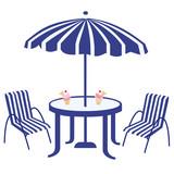 glaces sous le parasole poster