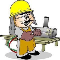 Trabalhador Soldando