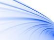 Soft Blue Curves on White