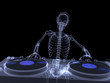 Skeleton DJ X-ray