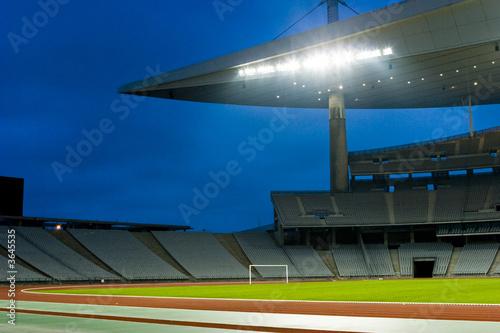 Empty Stadium Lights On