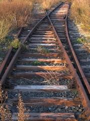 binario scambio ferroviario abbandonato