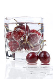 Sweet cherry and mineral water poster