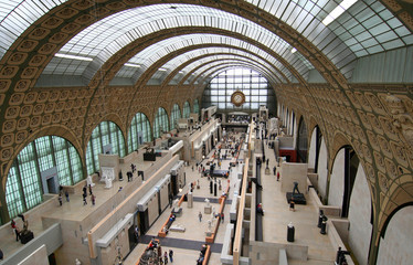 Main hall of the d'Orsay Museum in Paris