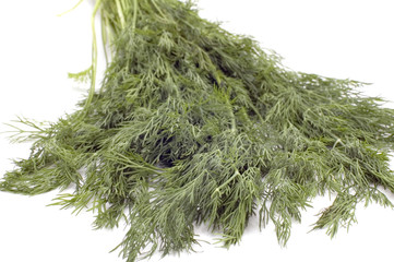 series object on white - food - dill