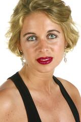 green eyed blond woman