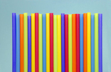 drinking straws in a row