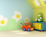 Fototapety Freshly painted room for a baby
