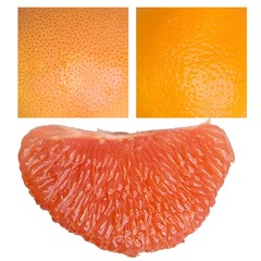 Texture. grapefruit and orange