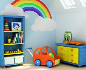 3D rendering of a children room