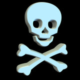 pirate flag white poster