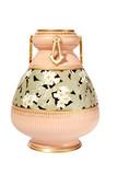 Antique Victorian porcelain vase with peach & Celedon glazes poster