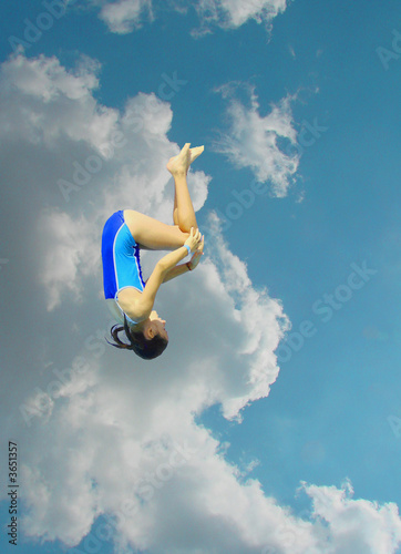 somersault against the clouds