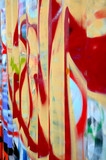 Graffiti sprayed on the side of a storage container. poster