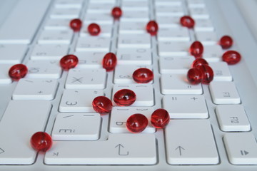 capsules on the keyboard