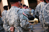 Military musician with his trumpet poster