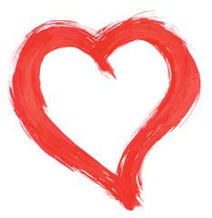 design element - red handpainted heart