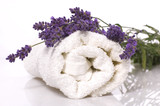 Fototapety lavender bath items