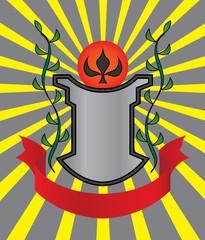 An heraldic shield