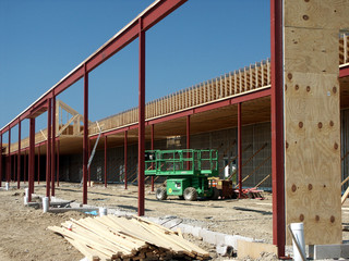 New construction of retail space