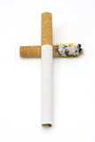 Smoking kills concept poster