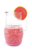 Refreshing guava juice drink on white . poster