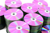 CD or DVD disks storage pile abstract. poster
