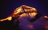 sunrise at mt. adi. kailash