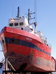 Navio Cargueiro em Manutenção