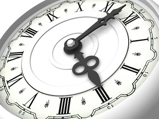 Clock. Three o'clock