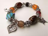 bracelet perles de couleurs poster